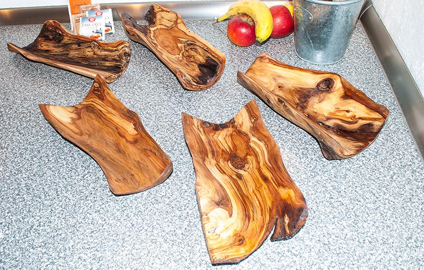 Kleine Holzschalen 20x30cm III
